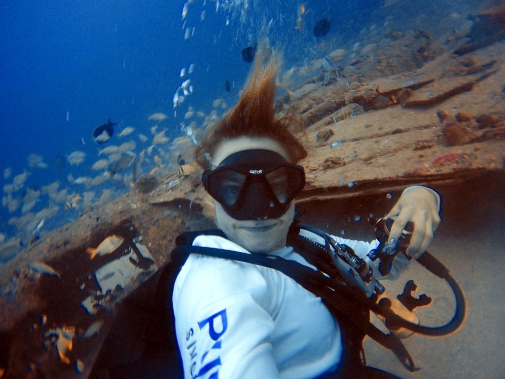 airplane wreck scuba diving