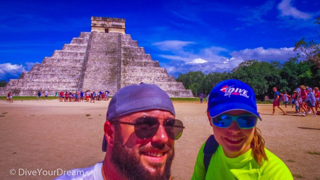 Chichen Itza pyramid ruins