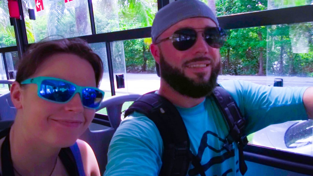 Cancun, Mexico bus ride